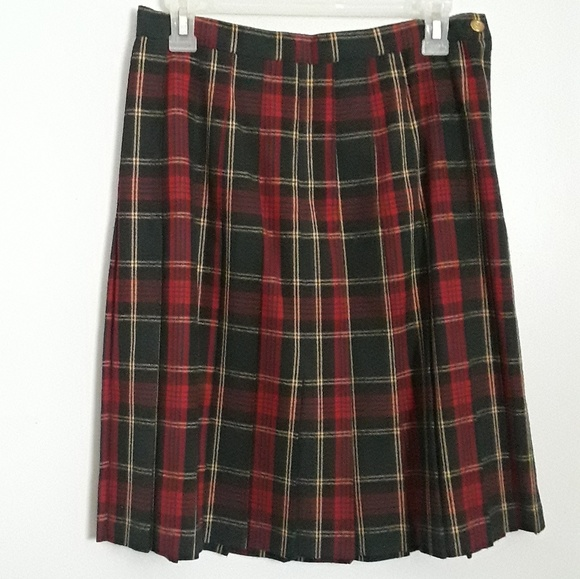 945a60b286ed23 Skirts | Women Plaid Pleated Skirt Red Black Yellow Size 10 | Poshmark